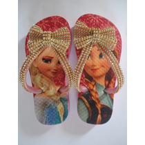 Chinelo Com Strass Estampado Frozen
