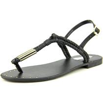 Steve Madden Braide Falso Vestido De Couro Sandálias Shoes