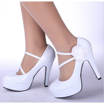 Sapato De Noiva Importado 11 Cm (pronta Entrega)