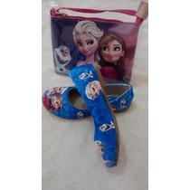 Kit .sapatilha Feminina Com Bolsa Frozen Sapato Calçado
