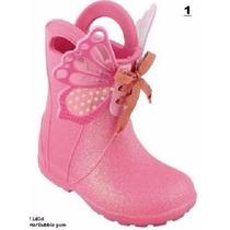 Galocha Plugt Borboleta Rosa Infantil