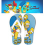 Chinelo Personalizado Simpsons Homer Bart Lisa Desenhos