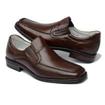 Sapato Masculino Em Couro Macio Semi Ortopédico Pelica