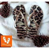 Chinelo Havaianas Customizada Com Piercing 37/38