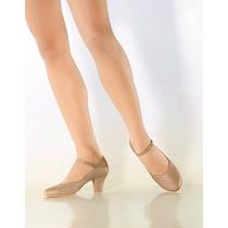 Sapato Em Napa Sintetica Salto 5cm Dança De Salão - Quedança