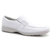 Sapato Masculino Pipper Branco Linha Médica Confort | Zariff