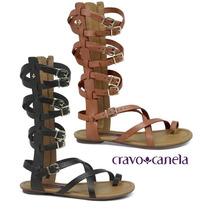 20%off Sandália Cravo & Canela Gladiadora Alta 139507