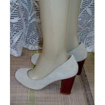 Sapato Fem. Ana Aguiar Tam. 37 Salto 9 Cm Camurça S9