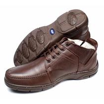 Sapato Bota Botina Masculino Em Couro Casual Alcalay