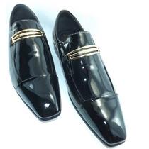 Sapato Verniz Liso Preto New Man Gold Jota Pe