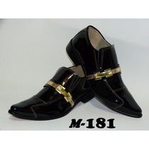 Sapato Masculino Luxo Em Couro Modelos (181 A 187)