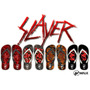 Chinelos Slayer - Tom Araya - Kerry - Gary - Thrash Metal