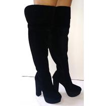 Bota Over Knee Cano Longo 50 Cm Preta Ou Marrom - Promoção