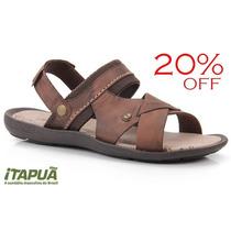 20% Off Sandália Masculina Itapuã Street Couro - 6407s14