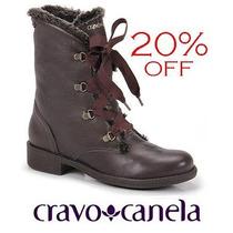 20% Off Coturno Cravo & Canela Bota Café 131109