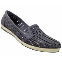Sapato Calcado Sandália Sapatilha Tipo Melissa Cor Preta