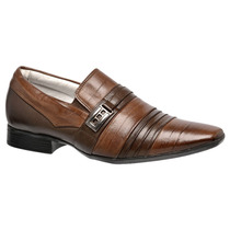 Sapato Masculino Marrom Caramelado Stilo Samello 100%couro