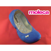 Sapatilha Moleca Ref.5196.309 - Camurça Azul