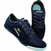 Sapatenis Lacoste Jacare Sapato Tenis Frete Gratis