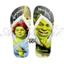 Sandálias Chinelo Havaianas Personalizadas Shrek Fiona