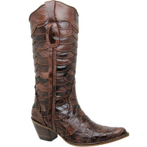 Bota Country Feminina Texana Lady Silver 100% Escamada Couro