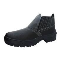 Botina Bota Calçado De Segurança De Couro Imbiseg Epi