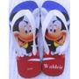 Chinelo Sandália Mickey Personalizado Com Nome Frete Grátis