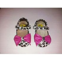 Sandália Sapatilha Bota Menina Bebê Onçinha Laço Pink