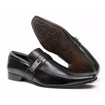 Sapato Masculino Luxuoso Bico Fino Stilo Sândalo 100%couro