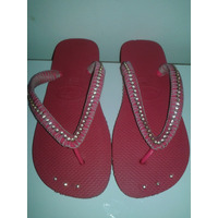 Havaianas Top Rosa Pink Decoradas Com Strass