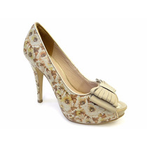 Sapato Feminino Peep Toe Tanara N03234 E N3232