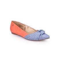 Sapatilha Petite Jolie Pj1373 Jeans/coral