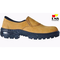 Botina/ Sapato De Segurança Cartom R64 Marrom Epi Sem Bico