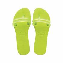 Chinelos Havaianas Flat Gum Feminino Verde Limão