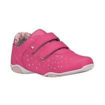 Tenis Infantil Feminino Ortopedico Rosa Bibi 890054 Velcro