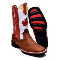 Bota Country Masculina Toronto Canada Montaria Texana Couro