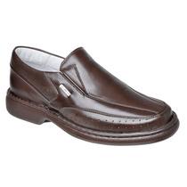 Sapato Anti-stress Sapatilha Masculina Macia Couro Pelica