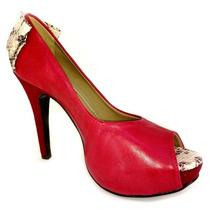 Sapato Social Feminino Meia Pata Vermelho Gabrielle Crist...