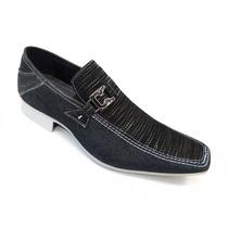 Sapato Social Jota Pe Indigo Marinho Jeans 14225