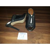 Sapato Tamanco Sandália Em Couro Super Confortável Nº37
