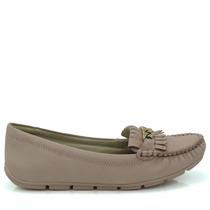 Sapato Mocassim Comfortflex 1573305 - Nude - Olfer Calçados