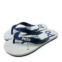 Polo Shoes. Chinelo. Azul Marinho & Branco - 41-42 Promoção