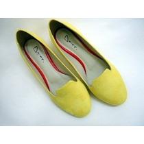Sapatilha Slippers Camurça Amarela