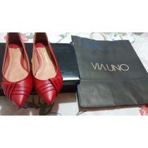 Sapato Scarpin Via Uno, Lindo,classíco,excelente Preço!!!