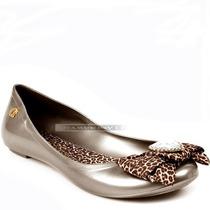Sapatilha Carmen Steffens Dourada Bronze Onça 33 34 37 38