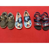 Kit 3 Pares Sapatos Tênis Sandália Infantil