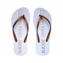 Chinelo Feminino Calvin Klein Branco Oferta Imperdível !!!
