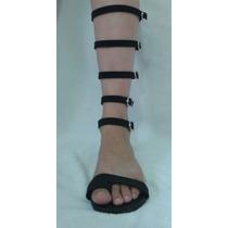 Sandália Do 33 Ao 44 Gladiadora Rasteira Sob Medida