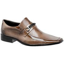 Sapato Social Envernizado Masculino Alto Brilho Luxo Gofer
