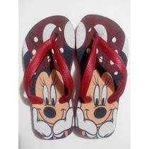 Chinelo Personalizados Mickey E Minnie Infantil